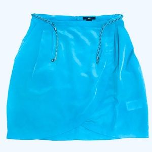 H&M wrap skirt size 8, turquoise light-blue color